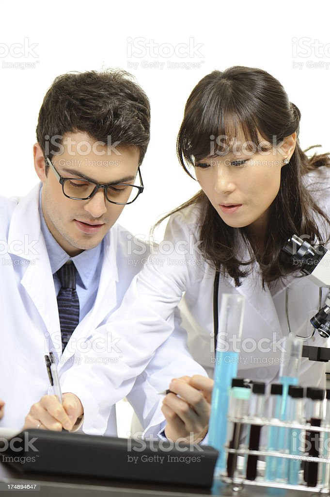 Medical research team royalty-free stock photo