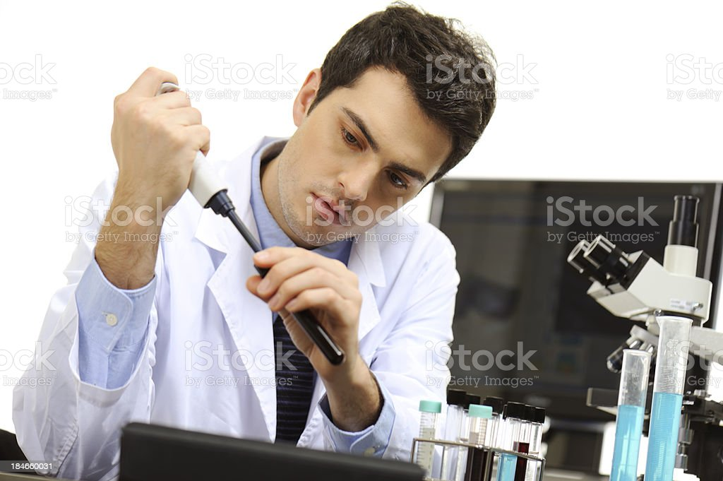 Medical researcher royalty-free stock photo