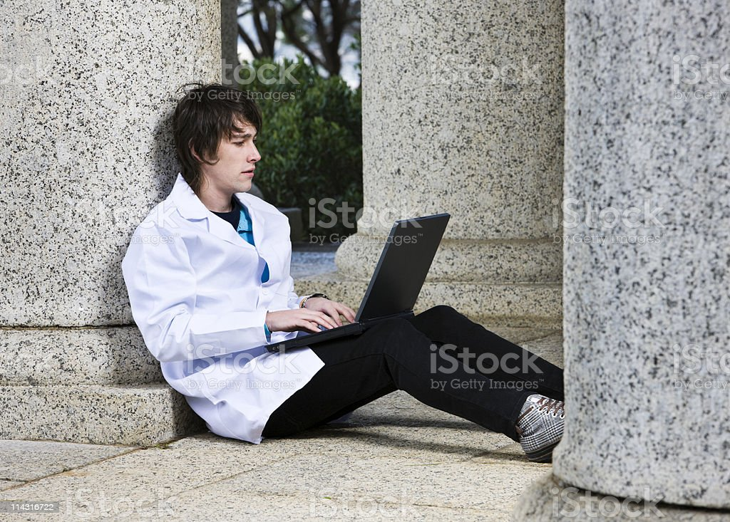 Medical / science student stock photo