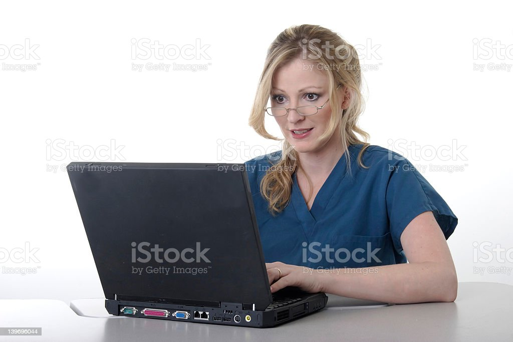 Medical secretary stock photo