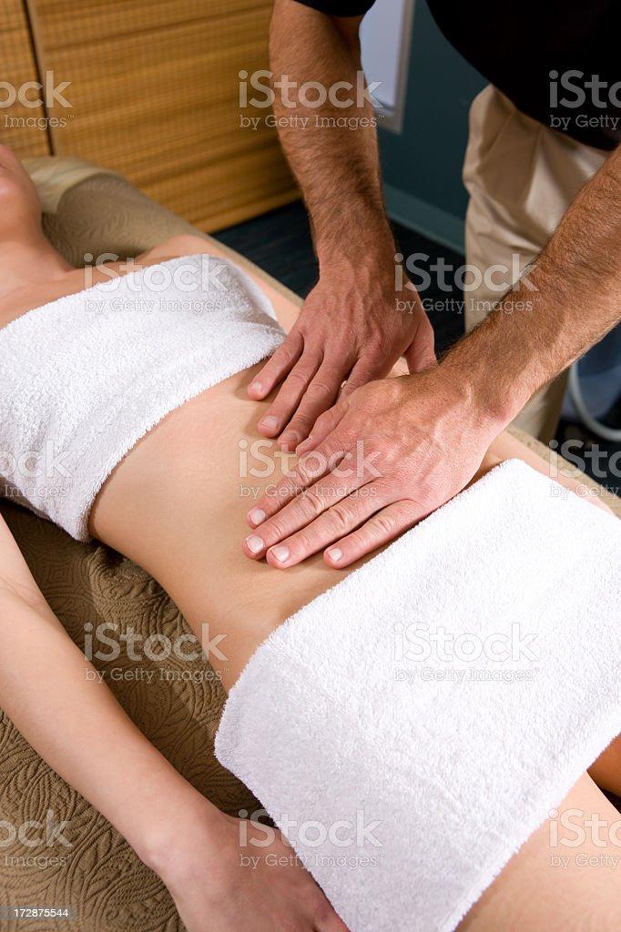 Medical Spa-Abdominal Massage royalty-free stock photo