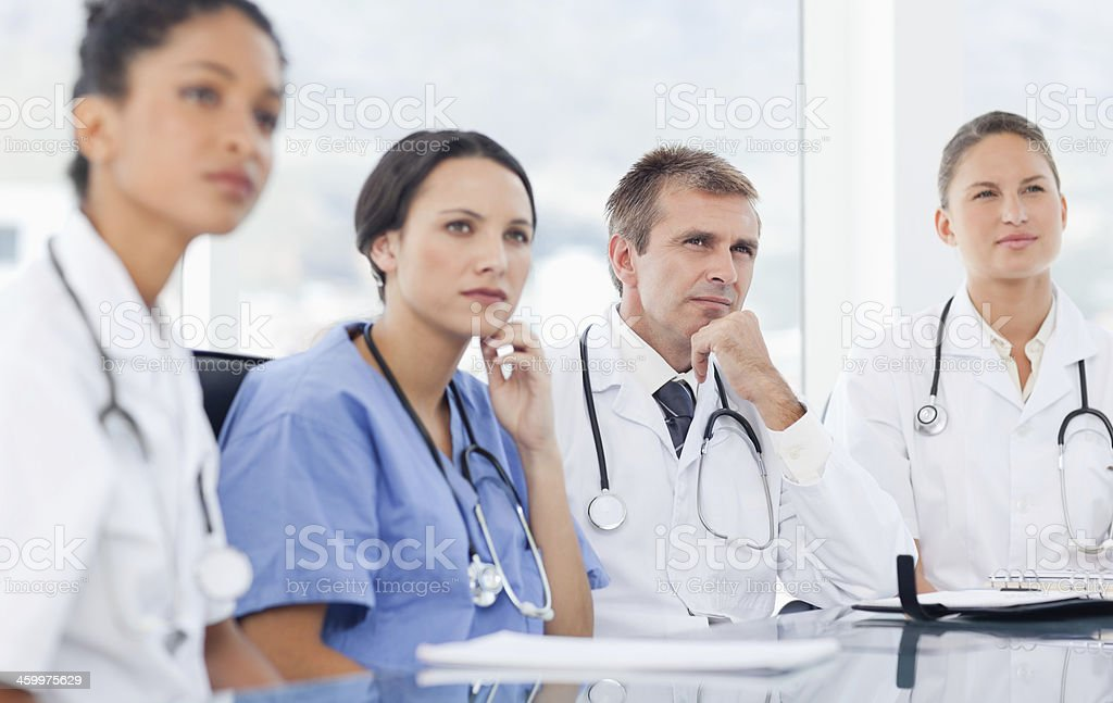 Medical staff listening to a presentation royalty-free stock photo