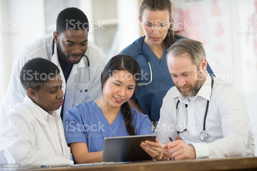 Medical Staff Working Together stock photo