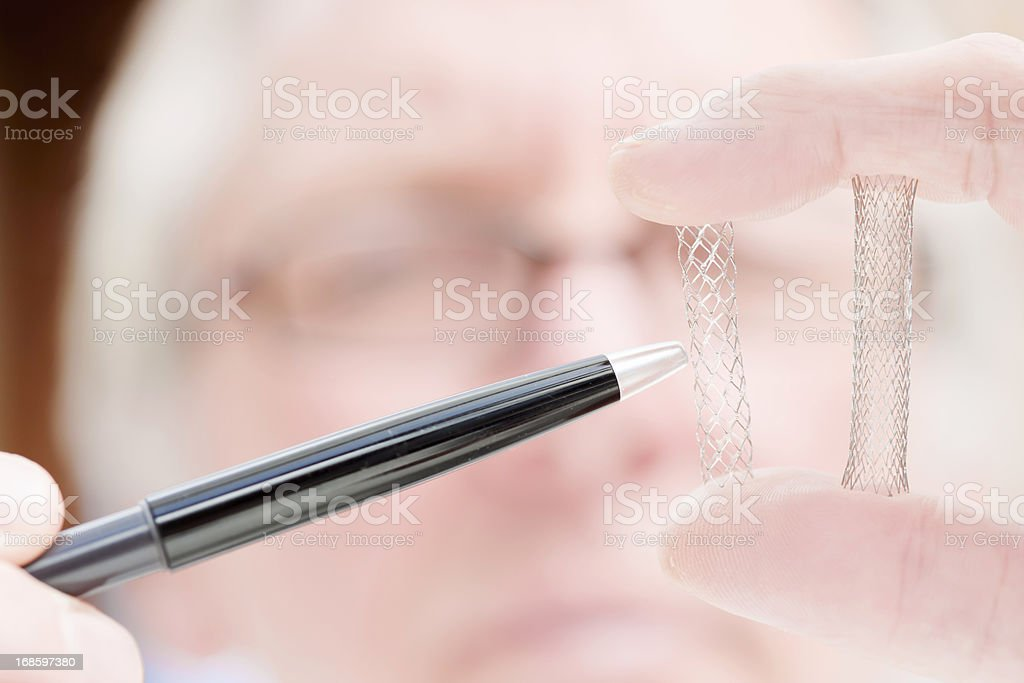 Medical stents stock photo