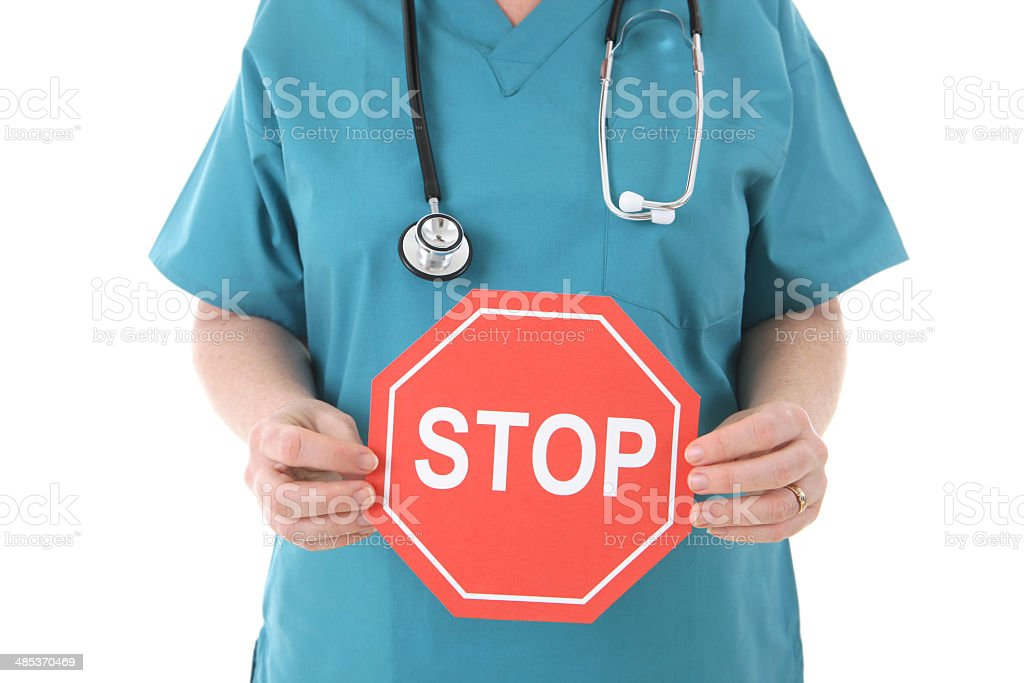 Medical Stop stock photo