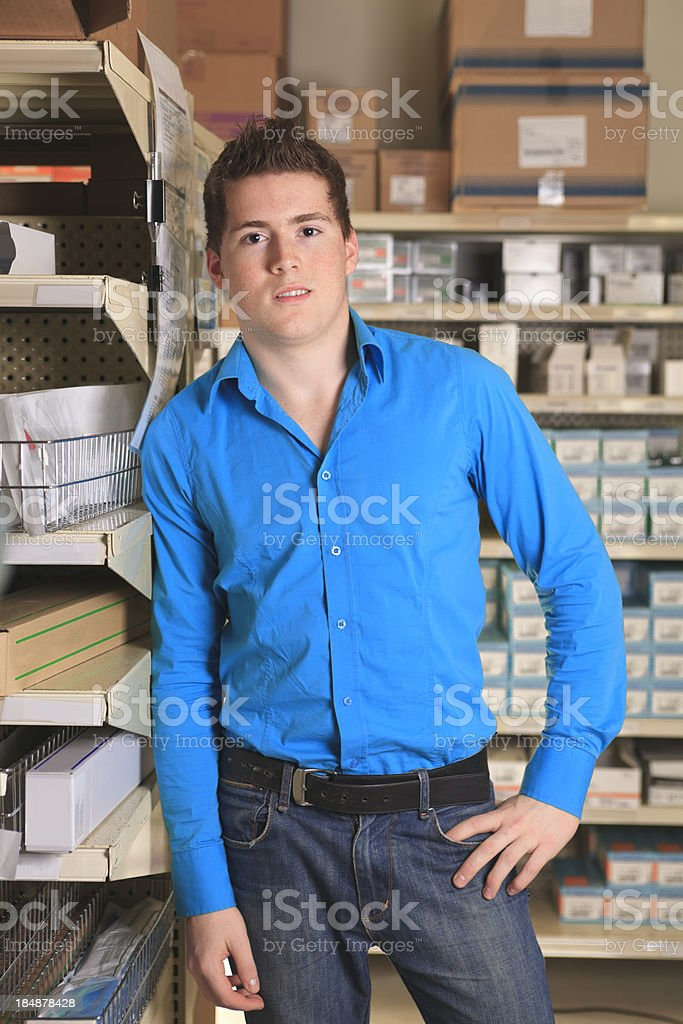 Medical Store - Employee royalty-free stock photo