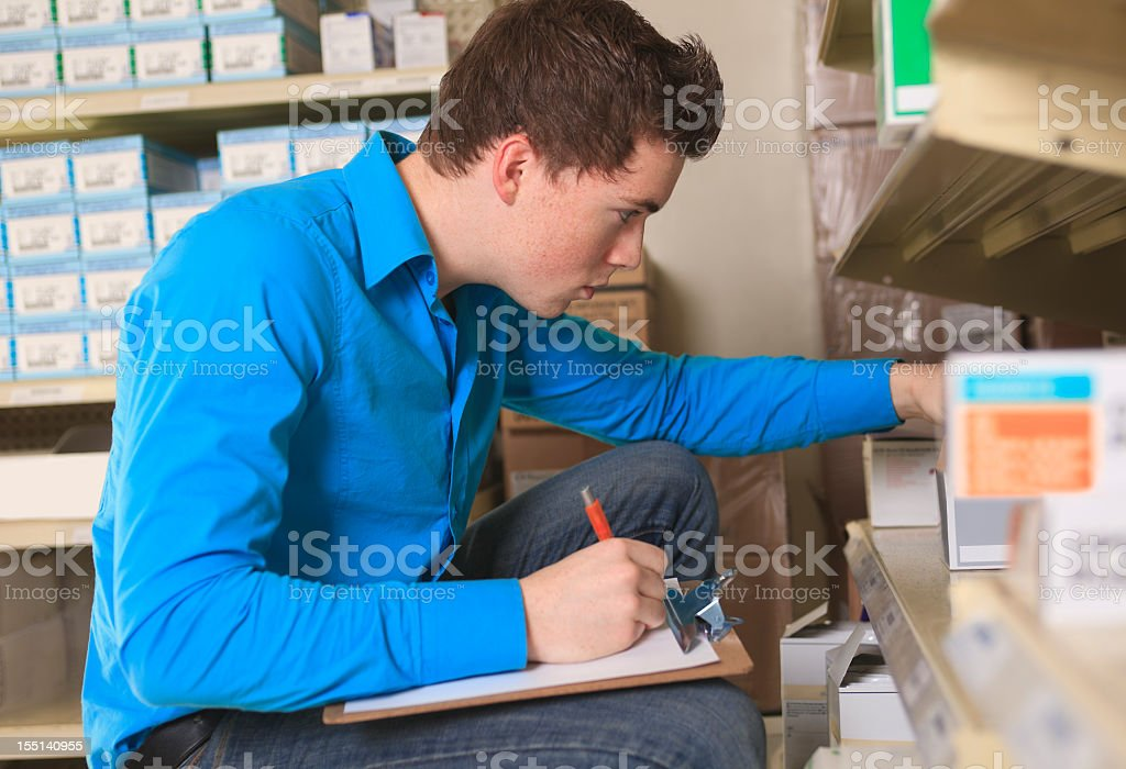 Medical Store - Inventory royalty-free stock photo
