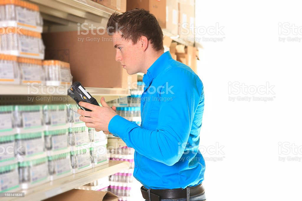 Medical Store - Inventory White Background royalty-free stock photo