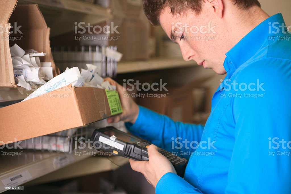 Medical Store - Make an Inventory royalty-free stock photo