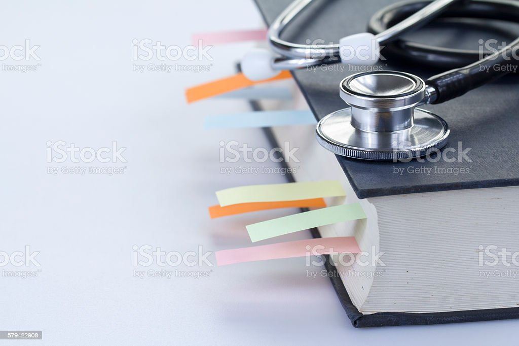 Medical Student Textbook stock photo