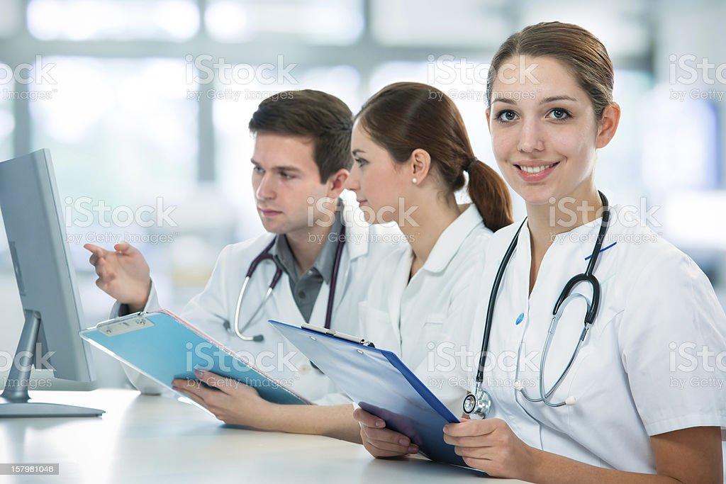 Medical students stock photo