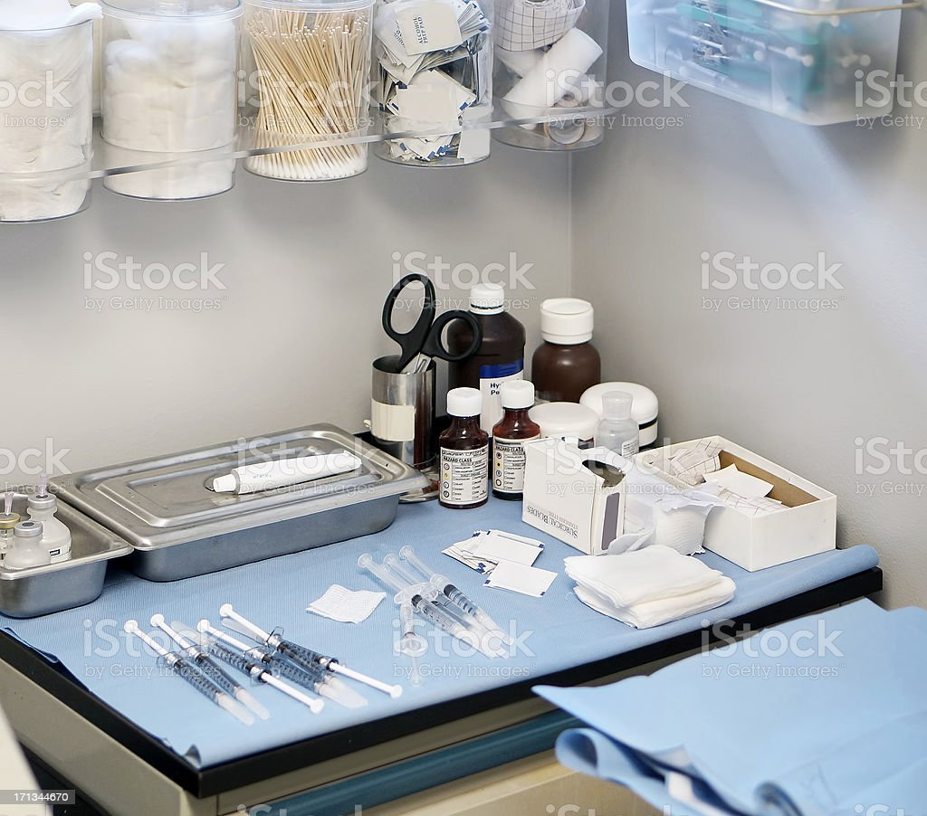 Medical supplies stock photo