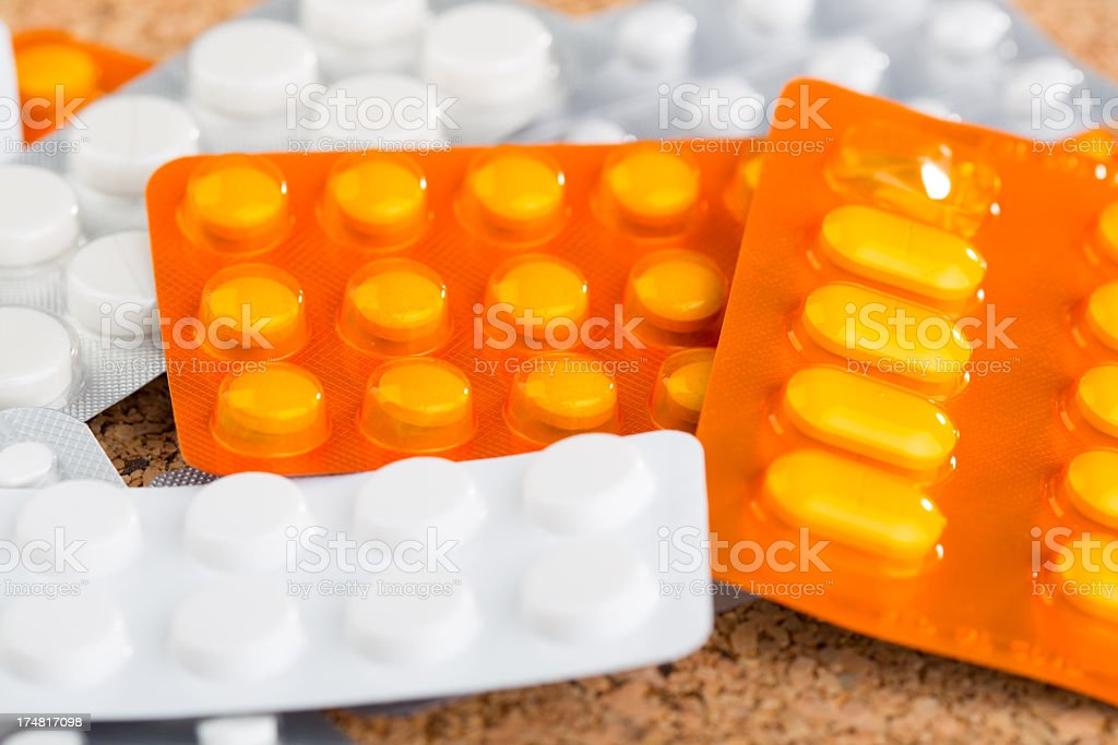 'Medical supplies, pills and capsules' royalty-free stock photo