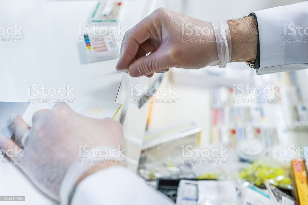 Medical Syringe and drags stock photo