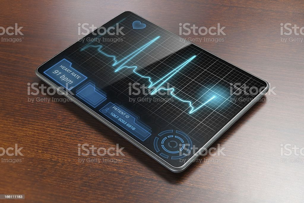 Medical tablet on table royalty-free stock photo