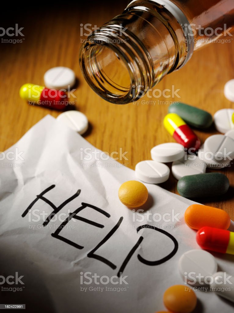 Medical Tablet Overdose royalty-free stock photo