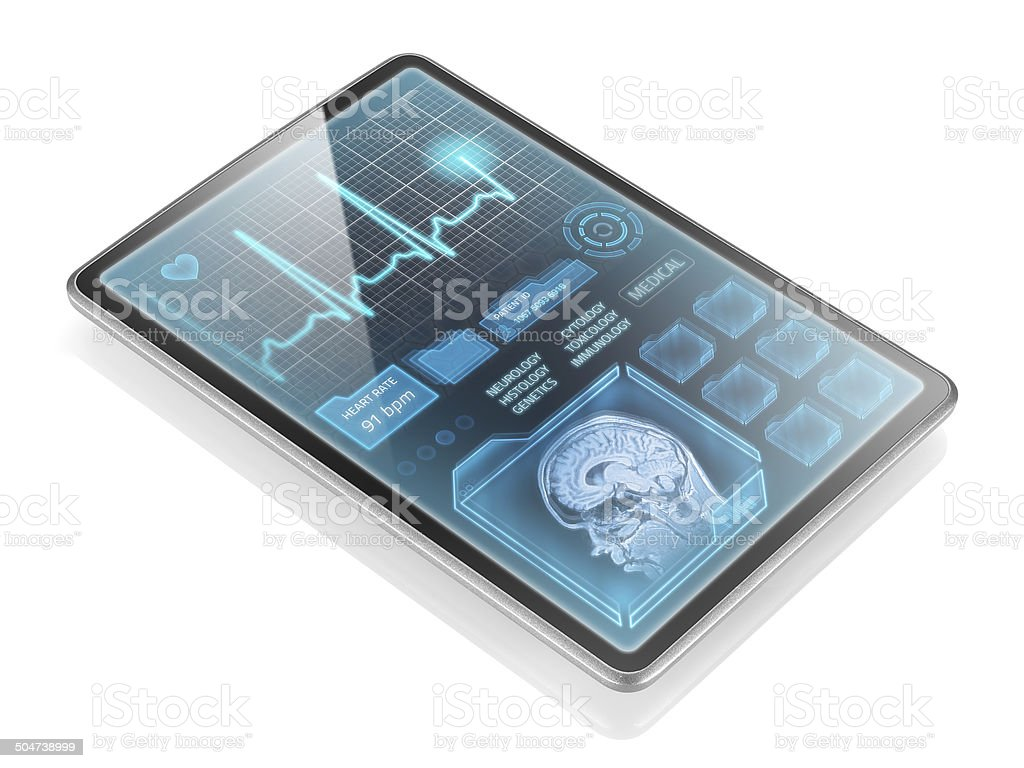 Medical tablet stock photo