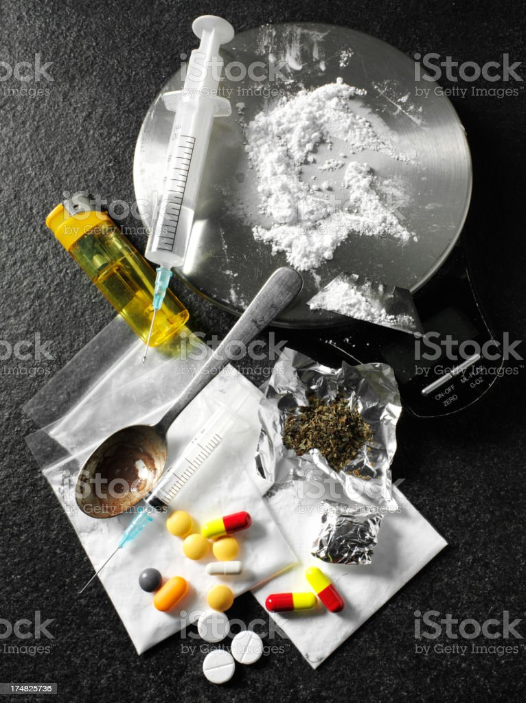 Medical Tablets with Narcotic Parcels stock photo