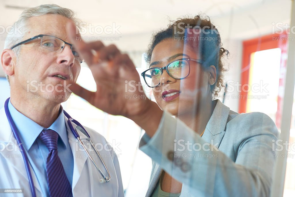 medical team business presentation stock photo