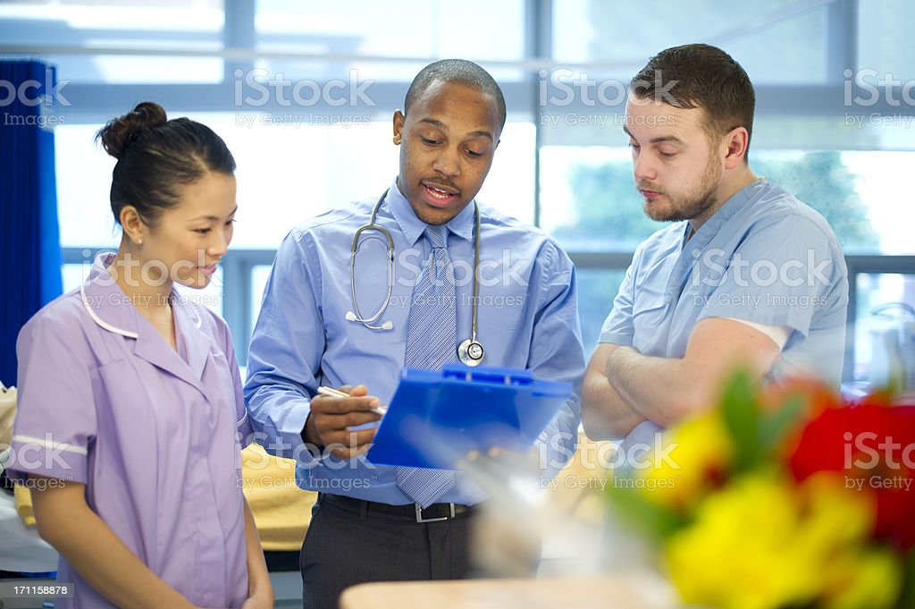 medical team chat royalty-free stock photo