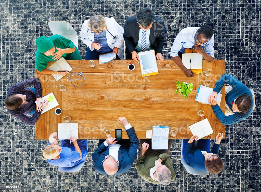 Medical Team Discussion Diagnose Disease Concept stock photo