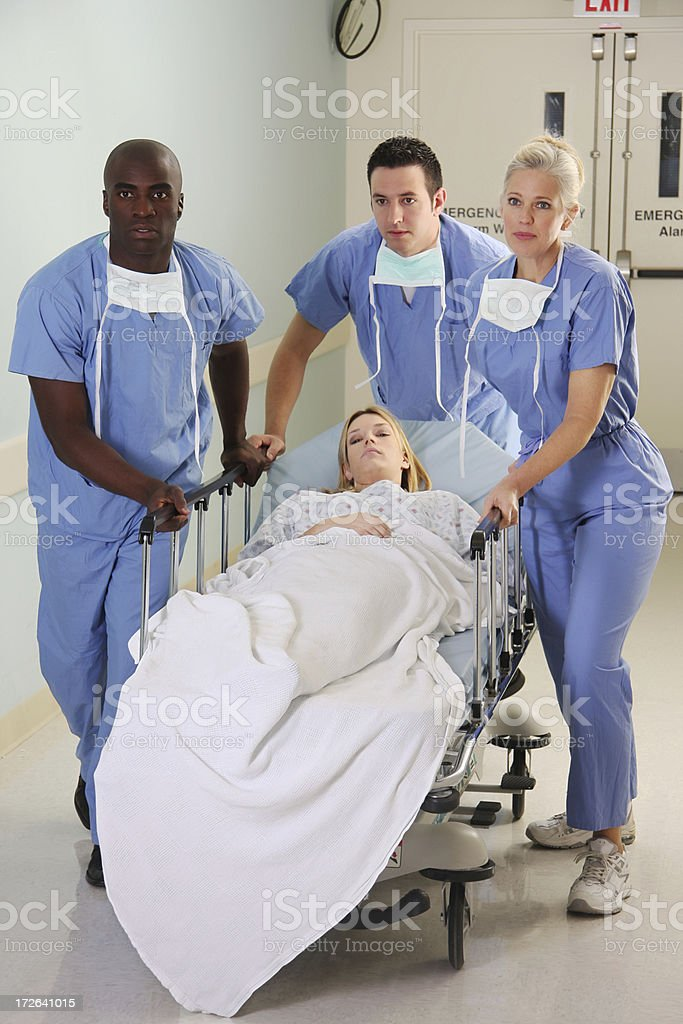 Medical Team Gurney royalty-free stock photo