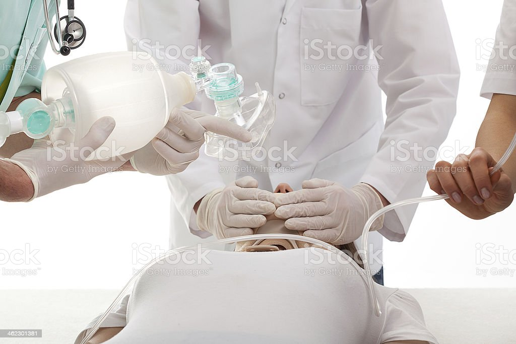 Medical team in action stock photo