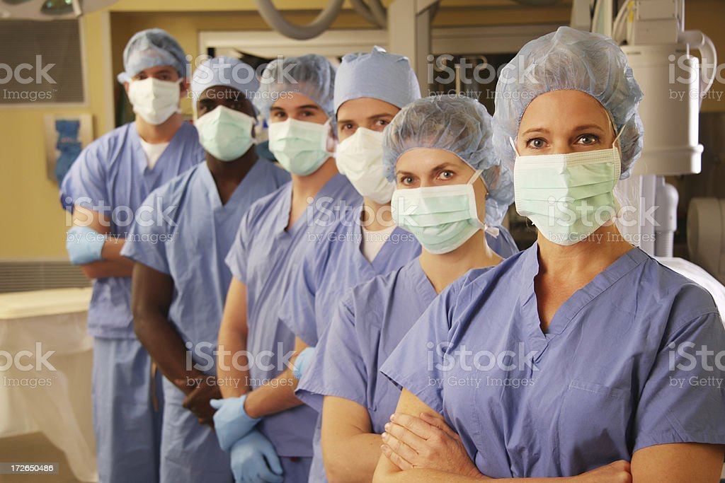Medical Team in Operating Room 2 royalty-free stock photo