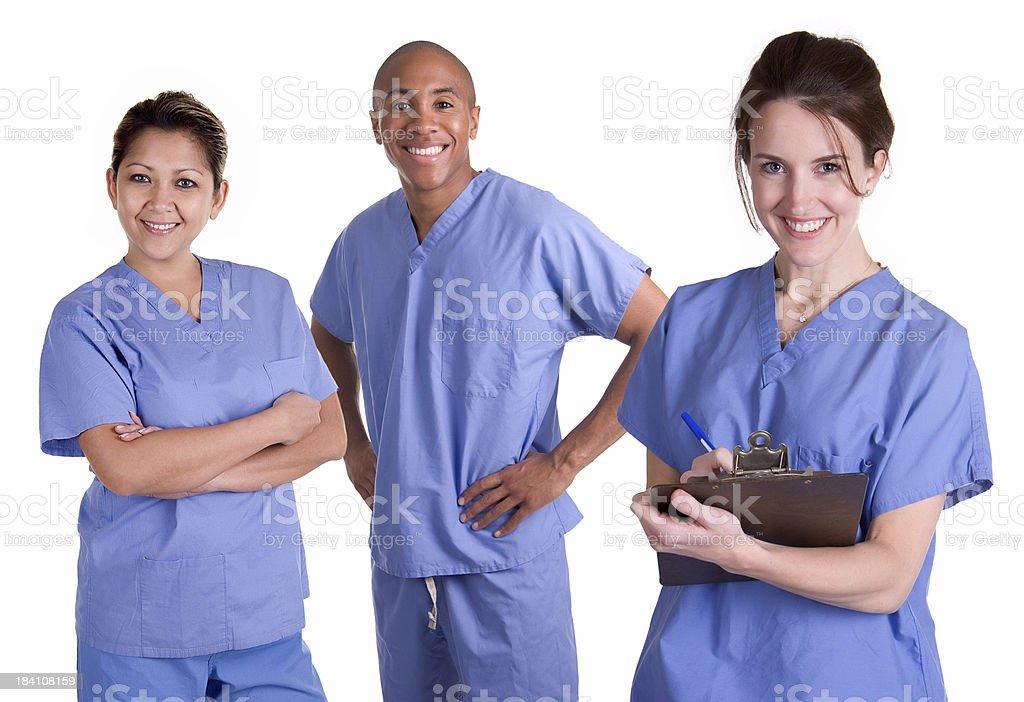 Medical Team in Scrubs stock photo