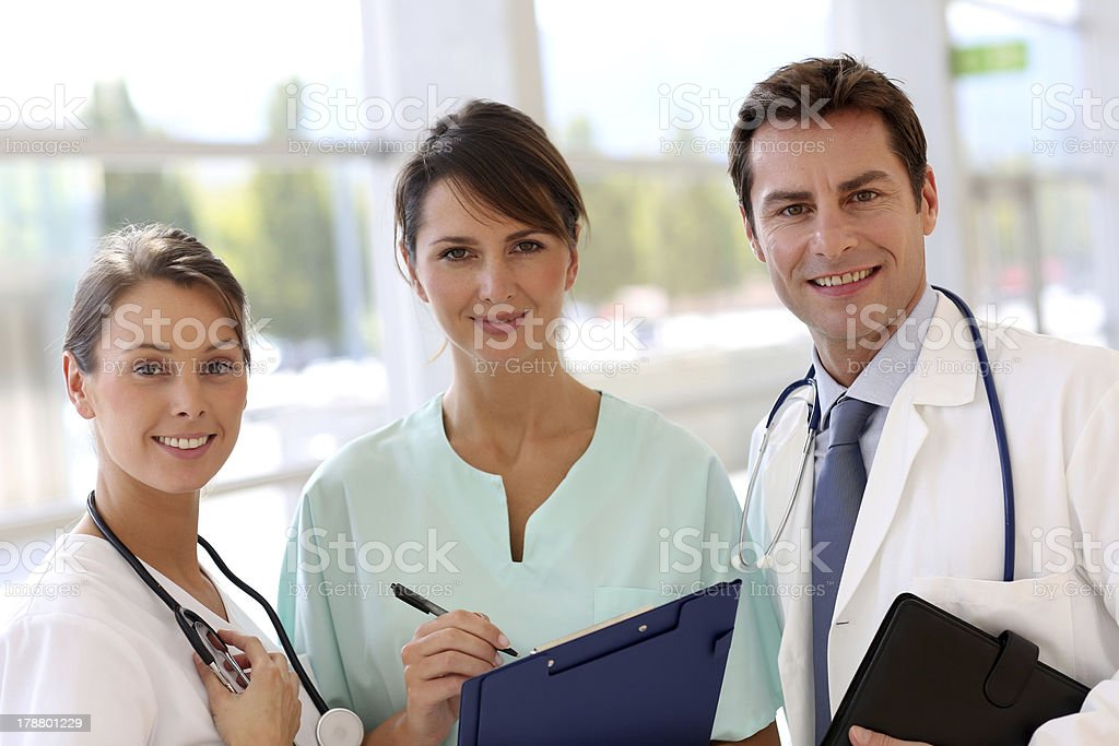 Medical team with coats royalty-free stock photo
