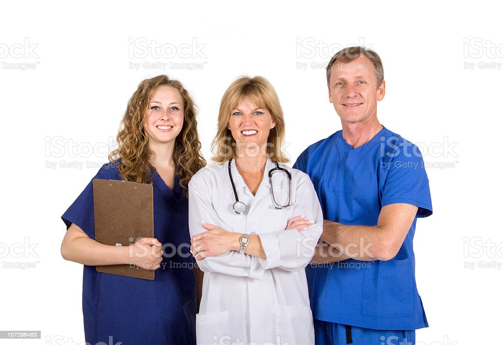 Medical Team with Doctor royalty-free stock photo