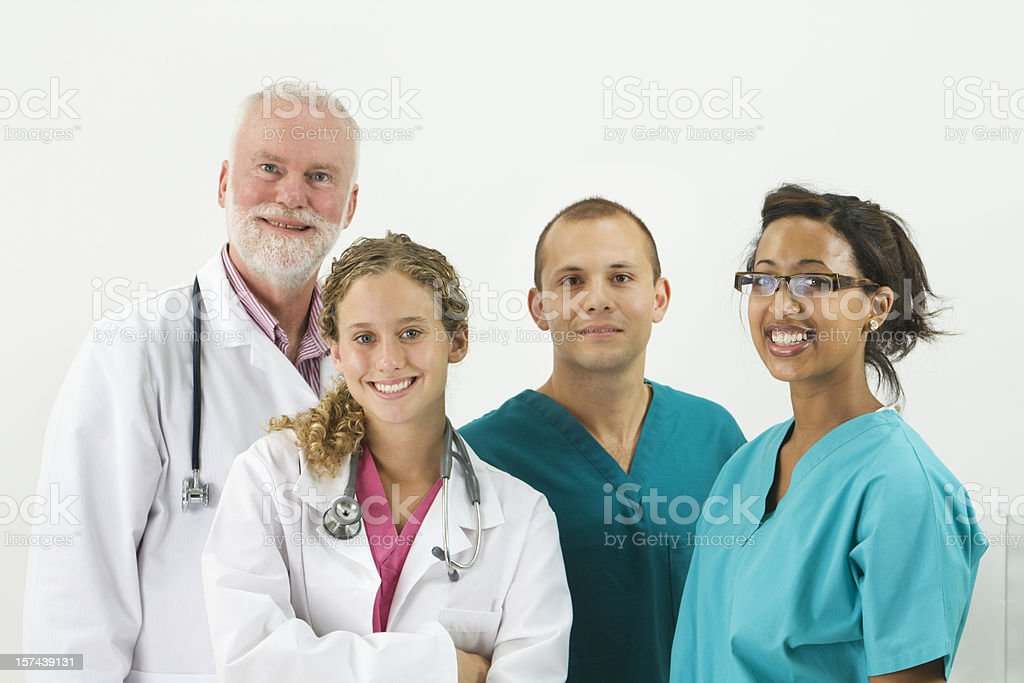 Medical Team with Doctors and Nurses in a Hospital royalty-free stock photo
