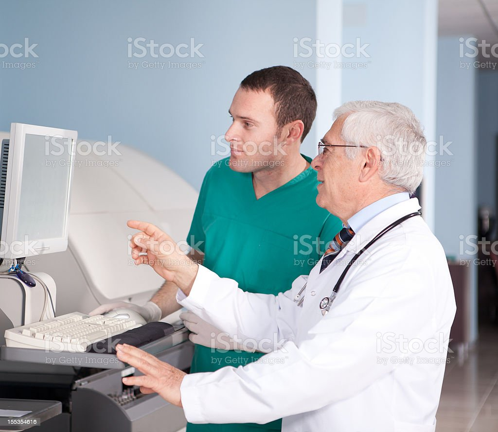 Medical Technician and Doctor royalty-free stock photo