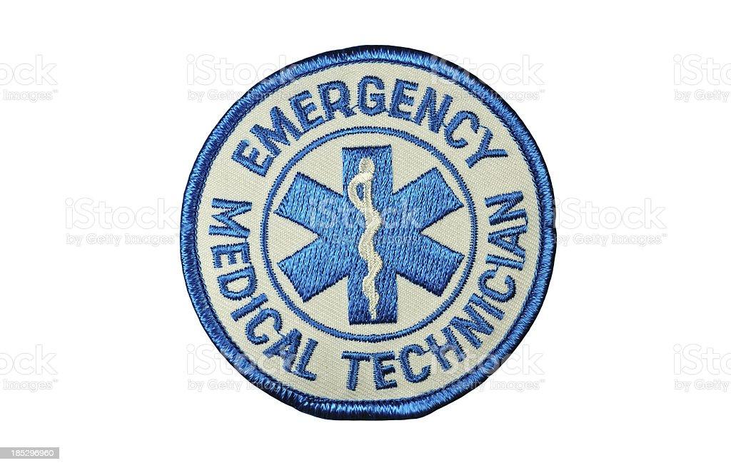 EMT Medical Technician Patch stock photo
