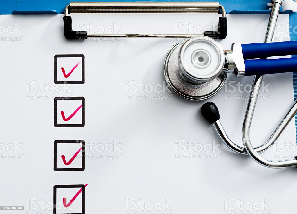 Medical test concept stock photo