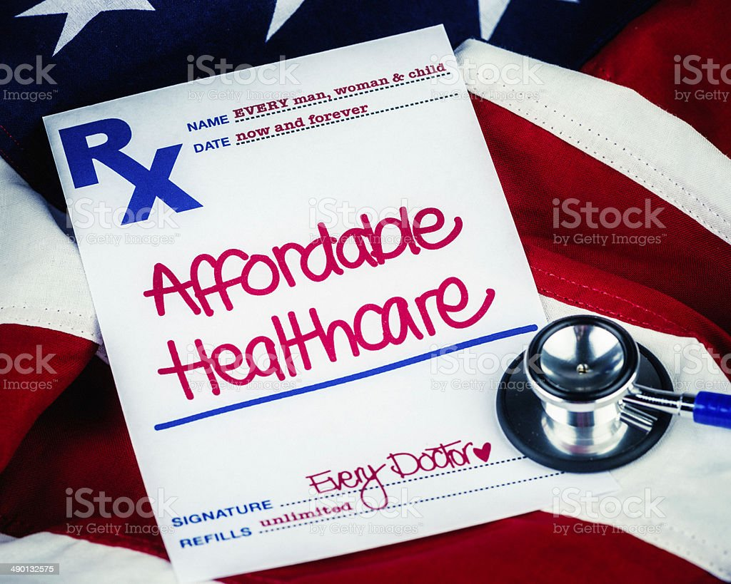 Medical Themes: Affordable Healthcare for All royalty-free stock photo