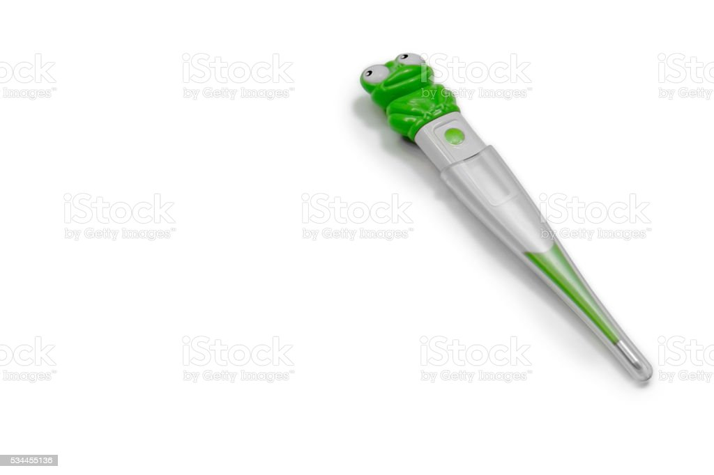 Medical: Thermometer for kids with background white stock photo