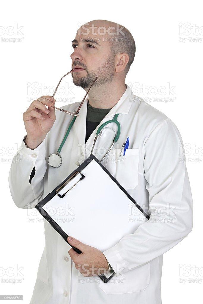 Medical thoughtful stock photo
