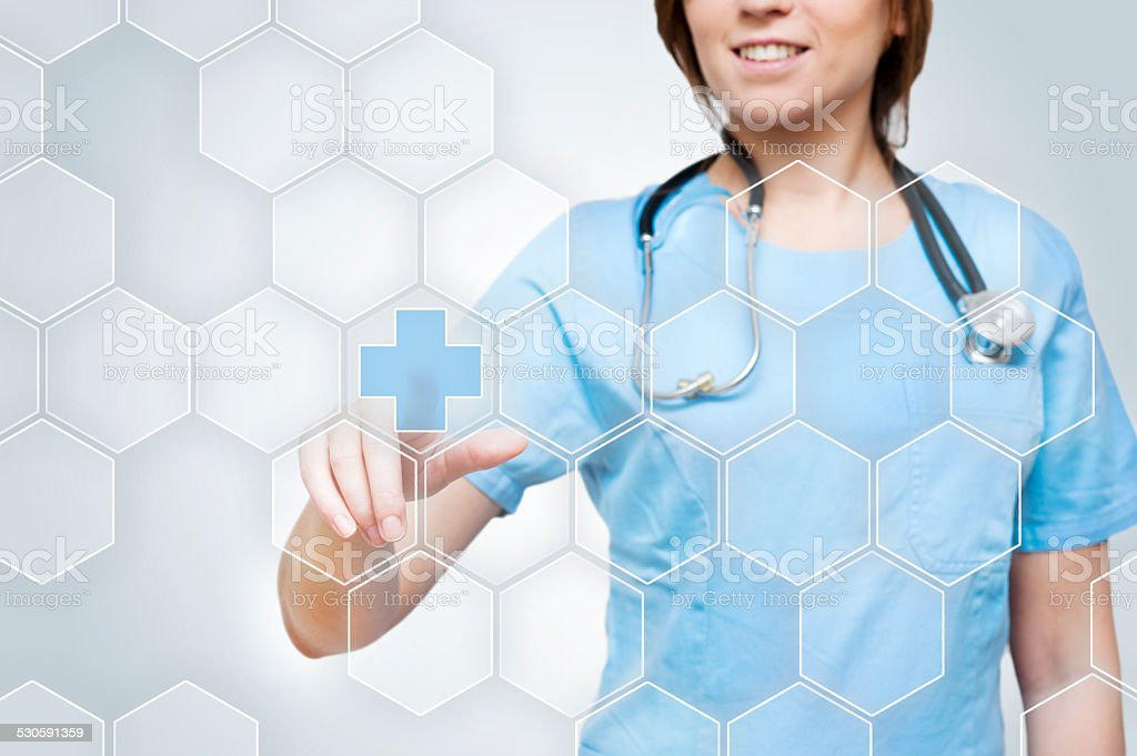 Medical Touchscreen / Medicine (Click for more) stock photo