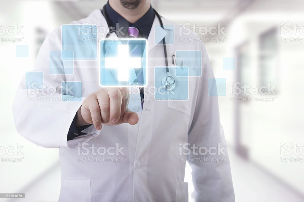 Medical touchscreen royalty-free stock photo