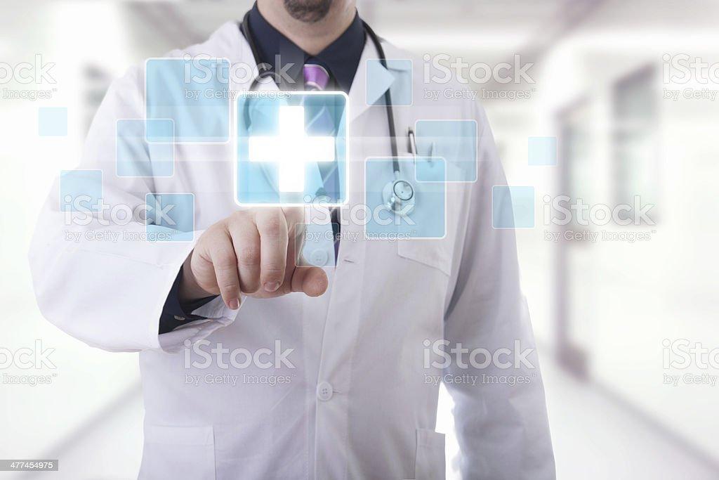 Medical touchscreen stock photo