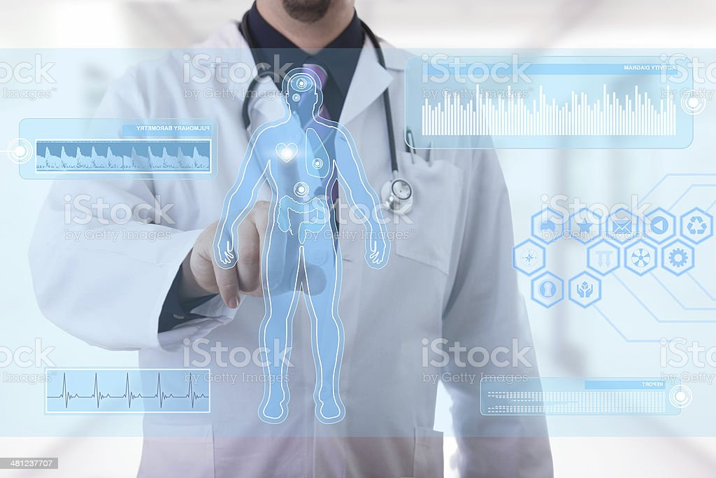Medical touchscreen stock photo