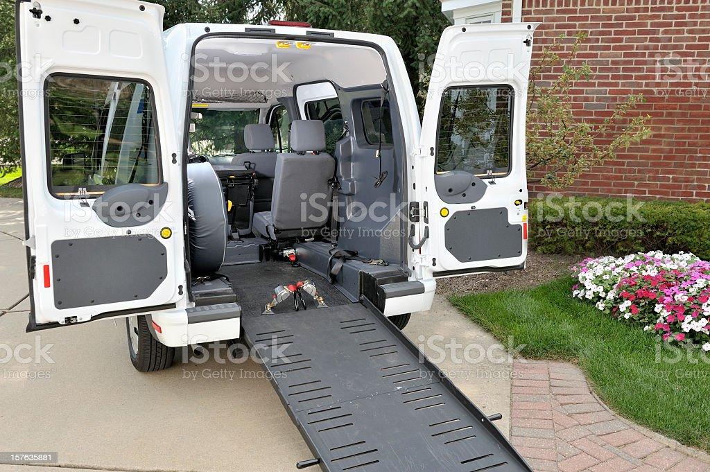 Medical Transportation Vehicle stock photo
