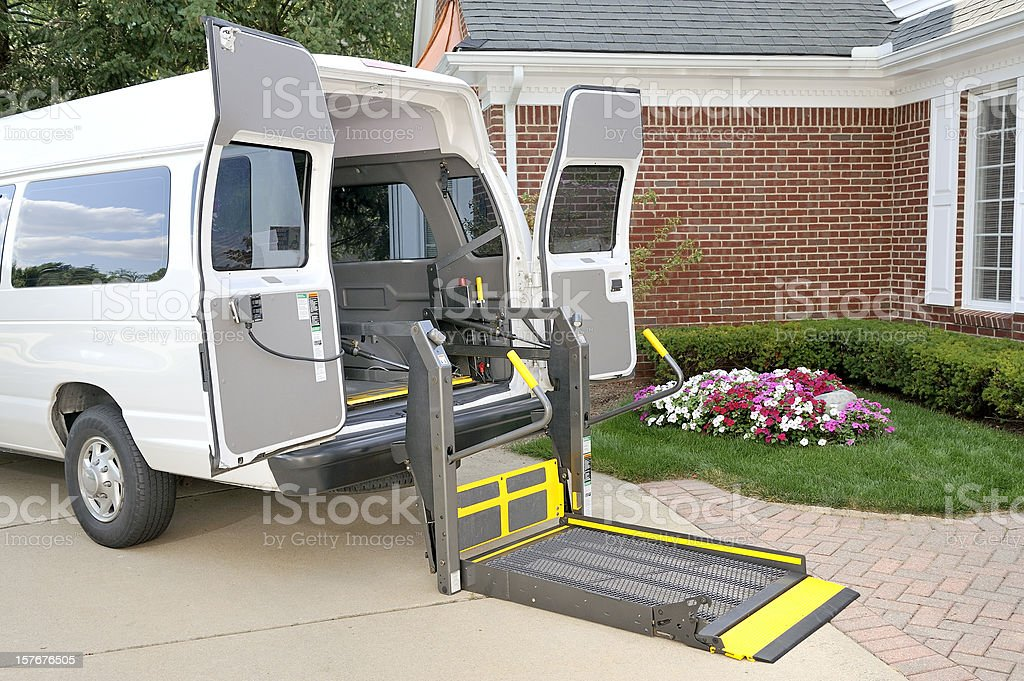 Medical Transportation Vehicle stock photo