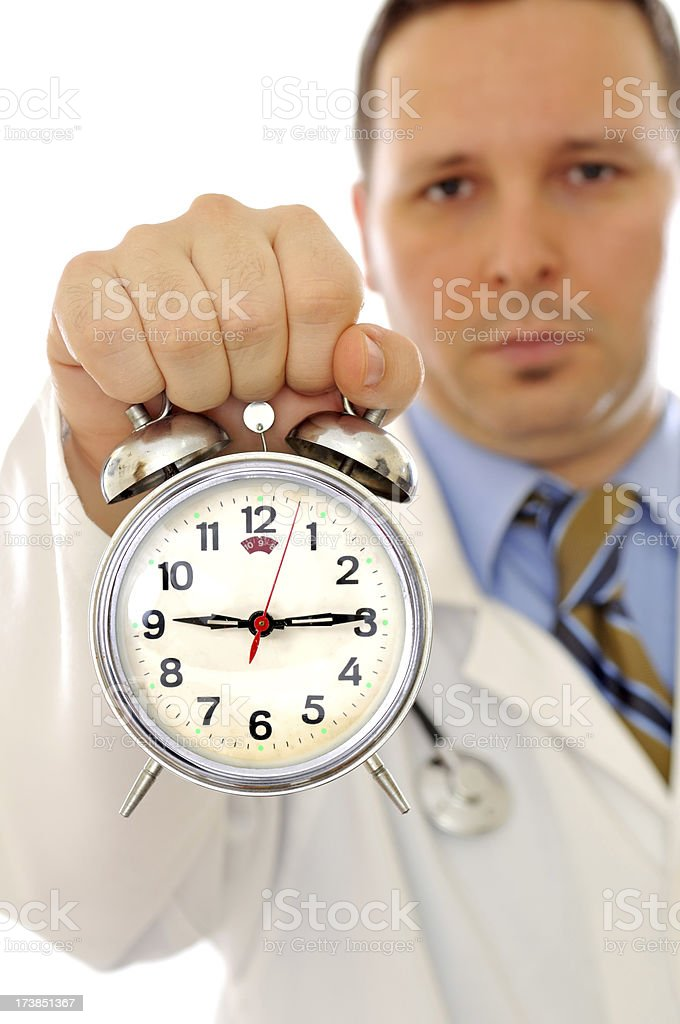 medical treatment time royalty-free stock photo