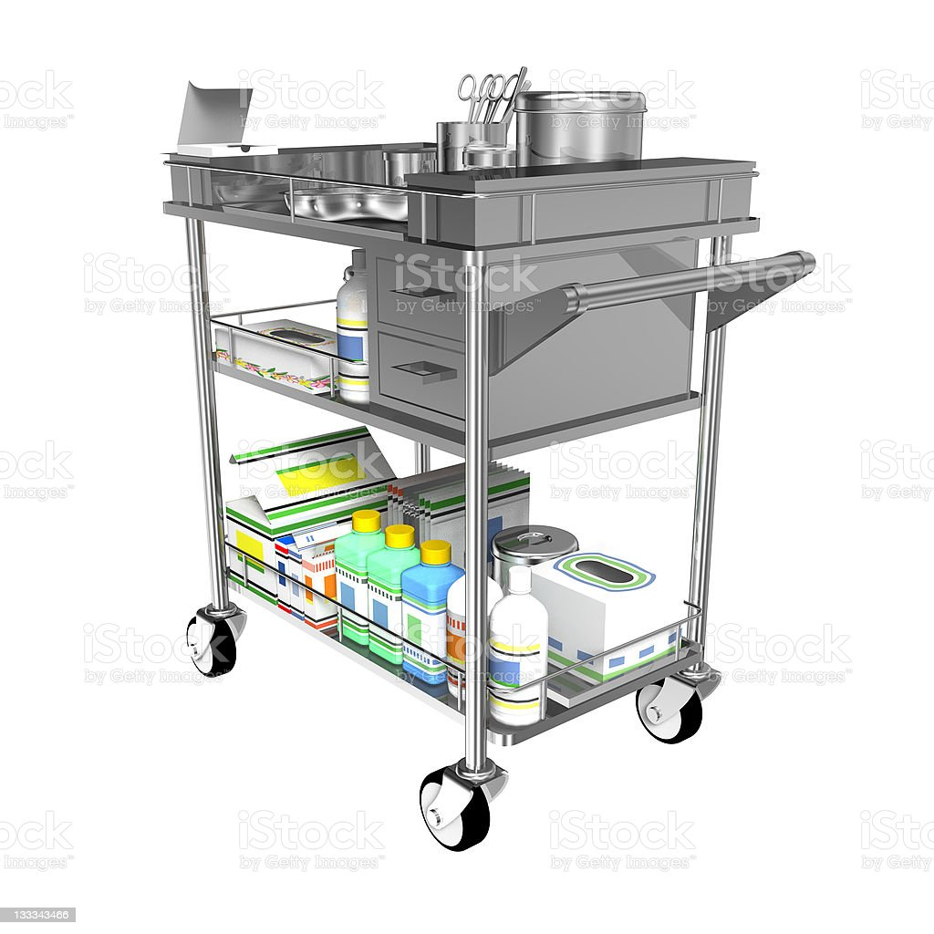 Medical trolleys stock photo