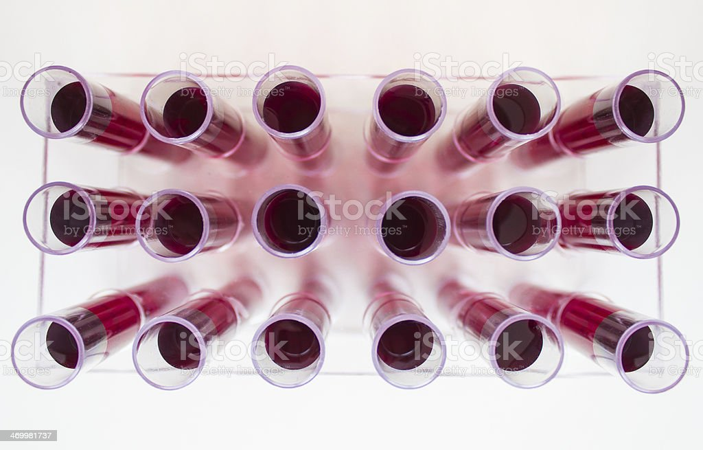 Medical tubes with blood stock photo