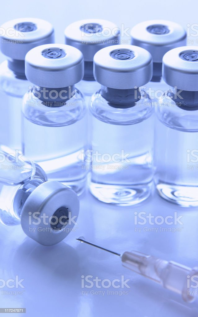 Medical Vials and Syringe Injections royalty-free stock photo