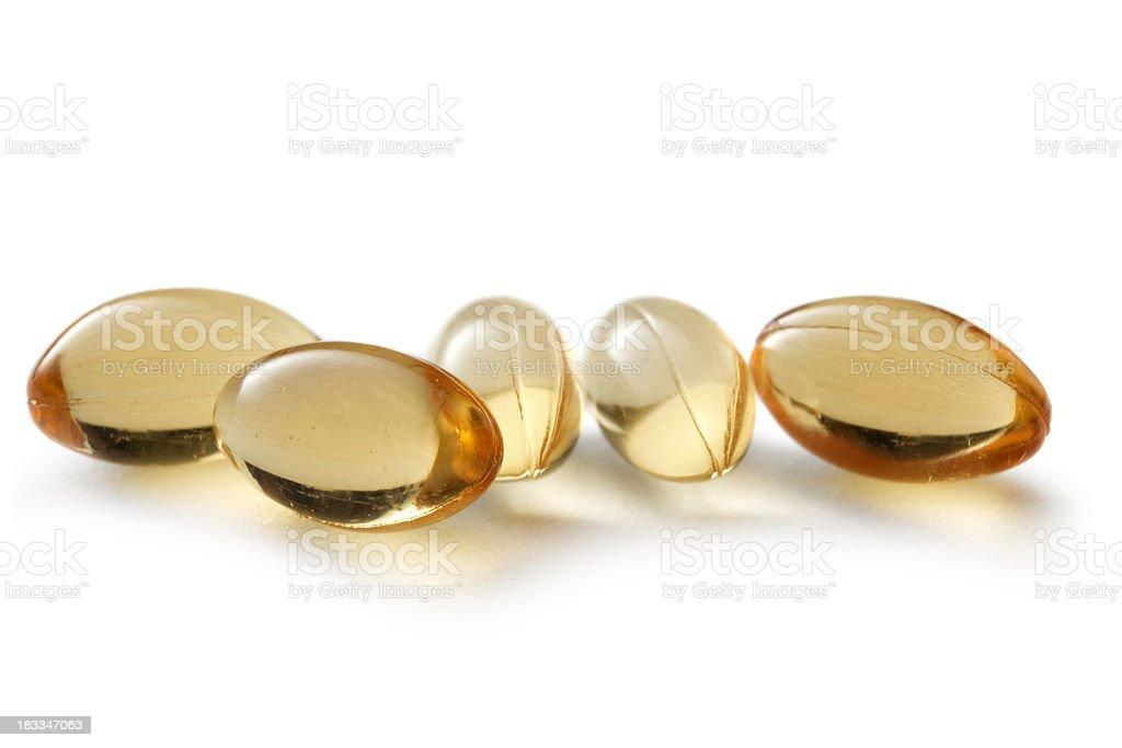 Medical: Vitamin Pills royalty-free stock photo