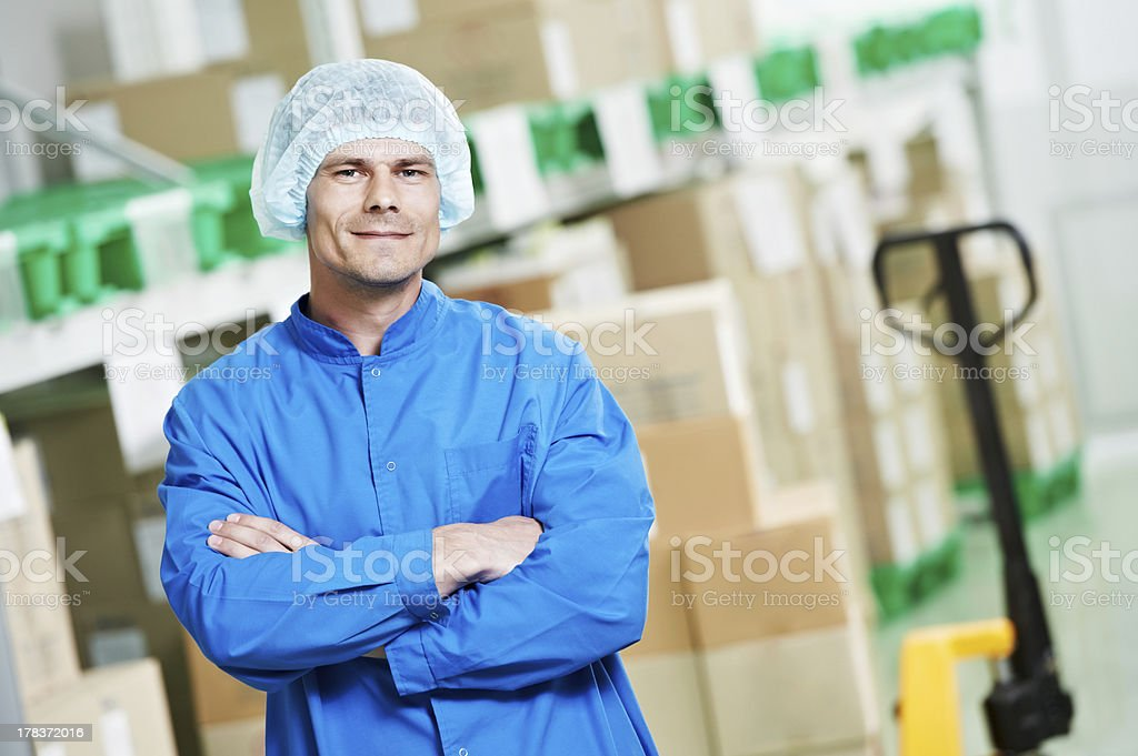 medical warehouse worker royalty-free stock photo